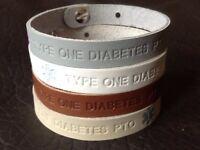 Fait Main Cuir Véritable Médical Id Bracelet