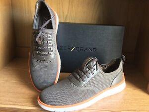 Cole Haan Generation Zerogrand Stitchlite Oxford Shoe Olive Men 12 EU 45  C32403