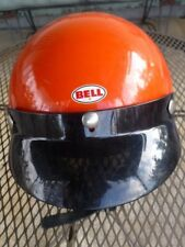"BELL MAGNUM TOPTEX VINTAGE ORANGE MOTOCROSS MOTORCYCLE RACE HELMET 6 7/8"" SWEET!"