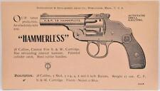 1898 Harrington & Richardson Gun Catalog Insert Hammerless Police Automatic .38