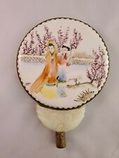 Vintage Chinese Porcelain And Stone Hand Mirror