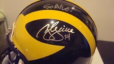 """Brian Griese Autographed Michigan Wolverines Mini Helmet Signed """"Go Blue"""""""