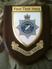 Lincolnshire Police Force Personalised  Wall Plaque