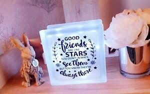 LED Light up Glass  Block lovely gift for a Friend