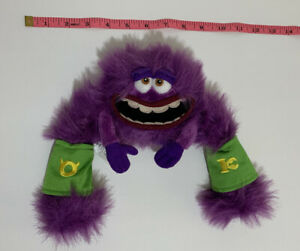 "Disney Pixar Plush ART Purple 8"" Monsters Inc University Stuffed Animal Toy"
