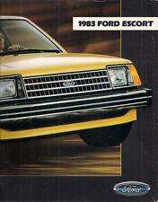 Ford Escort 1983 USA Market Sales Brochure L GL GLX GT Wagon