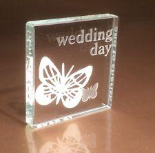 Spaceform Wedding Present Gifts Ideas Glass Token Butterfly Design Keepsake 1291