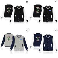 Men Women Baseball Jacket Southside Serpents Riverdale TV Uniform Coat Sweater