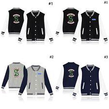 Mens Womens Baseball Jackets Southside Serpents Riverdale TV Show Uniform Coats!