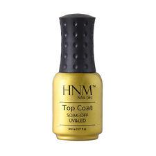 HNM Soak Off Color Gel Nail Polish Base Top Coat UV LED Manicure Lacquer 8ml New