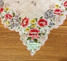 Vintage Handkerchief /Hanky ** Poppy Floral ** New Condition