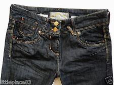 River Island Ladies Jeans Size 6 R dark wash boyfriend  double button  26/32