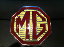 MG rear boot badge 95mm with self adhesive backing MG ZS ZR enamel