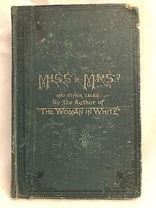 Wilkie Collins, Miss or Mrs? - 1st/1st 1873, Original Cloth Gilt - George Locke