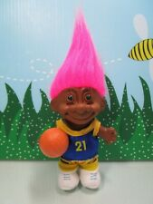"""BLACK/AFRICAN AMERICAN BASKETBALL PLAYER - 5"""" Russ Troll Doll - NEW IN BAG -Rare"""
