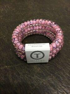 Brand New Teleties 3 Pack Small Hair Ties Pink Bliss Ponytail Holder Brac
