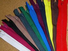 """24 x Assorted Colour 6"""" / 15cm Closed End Dress / Craft Zips ( Z6A/24S )"""