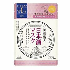 KOSE CLEAR TURN BIHADA-SYOKUNIN Moisturizing Face mask 7 sheets Japanese Sake