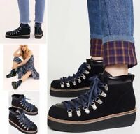 New Free People Durango Hiker Boot Women's Size 39/US 9 Black New In Box $168