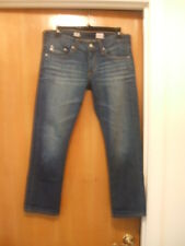 AG Adriano Goldschmied Sz 27R Tomboy Crop Relaxed Straight Crop Blue Jeans Nice!