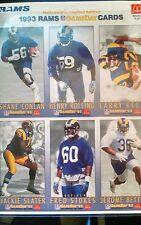 1993 Rams Game Day Card Sheet