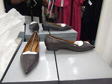 Cecille Nuevo Y En Caja Uk 4 Gris Divino Cuero Tacón Bajo Mocasines Mocasines Zapatos EU 37 Nuevo