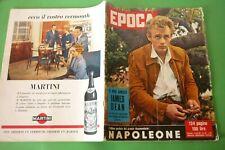 Période 1957 James Dean + Frédéric Fellini Oscar + Diana Barrymore + regina Eliz
