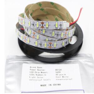 5M 5630 Cool White Non-Waterproof 300 Leds SMD LED Strip Lights DIY Lamps 12V