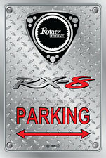 Metal Parking Sign  Rotary Mazda Style RX-8 #06 - Checkerplate Look