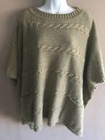 Zara Knit Womens, Knitted Cape / Poncho Medium