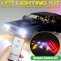 Remote LED Licht Kit Für LEGO 42111 Für Doms Dodge Charger Car USB Beleuchtung