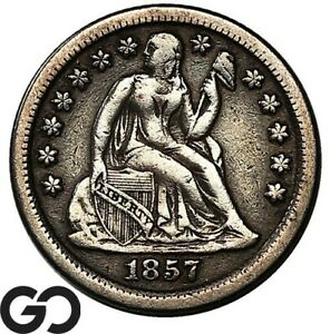 1857-O Seated Liberty Dime, Tougher Date New Orleans Issue