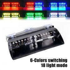 12 LED Car High Intensity Law Enforcement Emergency Strobe Light 6 Colors RGB