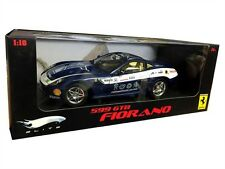 FERRARI 599 GTB FIORANO DIE CAST BLUE 1/18 BY HOT WHEELS ELITE L7125