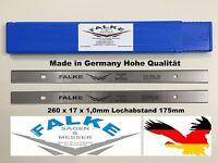 Hobelmesser Scheppach 2 Stück 260x17x1mm 175mm Lochabstand