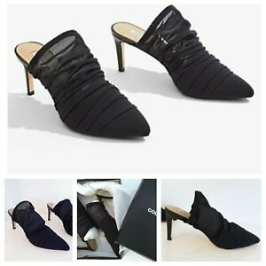 NEW COUNTRY ROAD Bonnie Heels Size 39 40 EU   Black Sheer Evening Shoe   RR$179