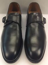 Allen Edmonds Warwick Monk Strap Buckle Black Men 8.5 US Made $385 NIB New 5750