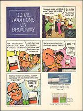 1971 Vintage ad Doral Menthol Cigarettes`Cartoon Art On Broadway Auditions