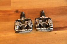 Retro Vintage Shimano Deore XT PD-M737 Black SPD Clipless Pedals