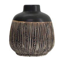 Black / Cream Dash Vase Jug Pot Decorative Ornament