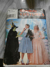 Simplicity 0617 Wizard of Oz Dorothy Glenda Witch Costume Halloween Pattern