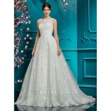 Ellis Bridal Ivory Lace Embellished Dress 12279A Size UK-12 EU-38 US-10