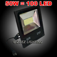 50W Cool White LED Flood Light Outdoor Security Garden Landscape Wall Spot Lamp