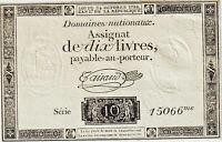ASSIGNAT 10 LIVRES FRANCE 1792 Ass.36c - SPL
