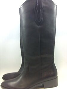 Frye Womens Ray Leather Pointed Toe Knee High Cowboy Boots, Black, Size 7.0