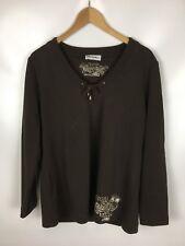 ULLA POPKEN Sweatshirt, braun, Größe 42/44