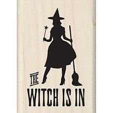 Inkadinkado Halloween Mounted Rubber Stamp, The Witch is in, 1.75 by 2.5-Inch
