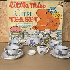 Vintage Mr Men Roger Hargreaves Little Miss Miniature Tea Set 1982 - Boxed