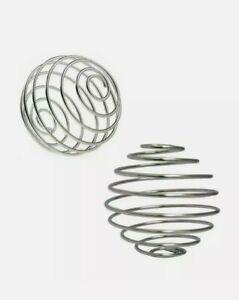 2x Stainless Steel Protein Bottle Mixer Blender Whisk Balls Shaker Water Cup UK
