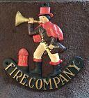 Fire Company Logo & Figure Cast Iron Trivet-VTG , Great Condition